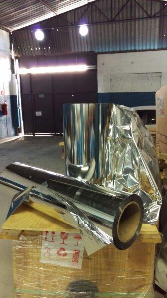 Bobinas bopp metalizado