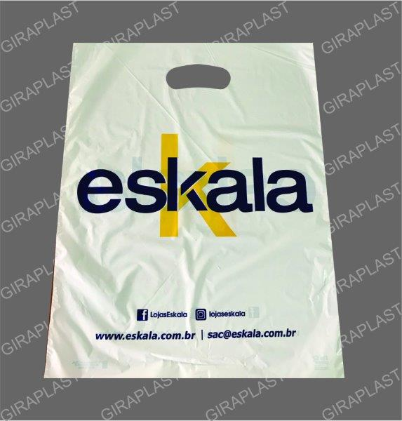 Fábrica de sacolas plásticas para lojas