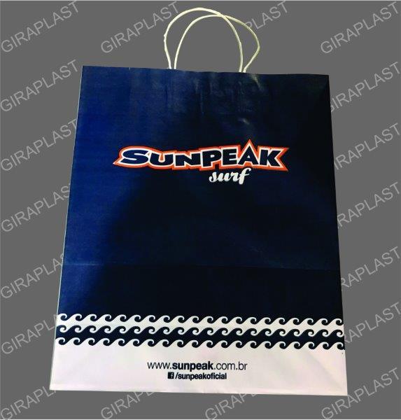 Fornecedor de sacolas de papel kraft