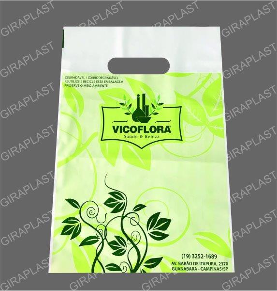 Sacola oxi biodegradável preço