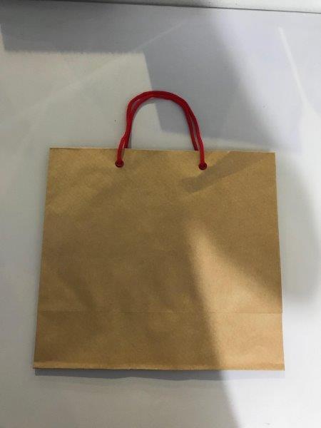 Sacola de papel alça cordão