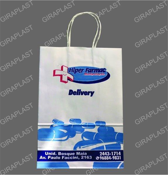 513c509e7d Sacola de papel personalizada para loja - GiraPlast